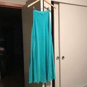Light Blue Chiffon Maxi Skirt